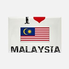 I HEART MALAYSIA FLAG Rectangle Magnet
