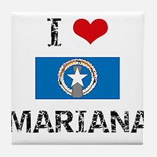 I HEART MARIANA FLAG Tile Coaster