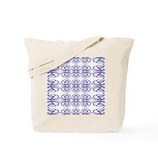 Purple 'Victorian Easter Illusion' Tote Bag