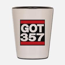 got 357 red Shot Glass