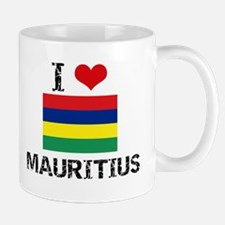 I HEART MAURITIUS FLAG Mug