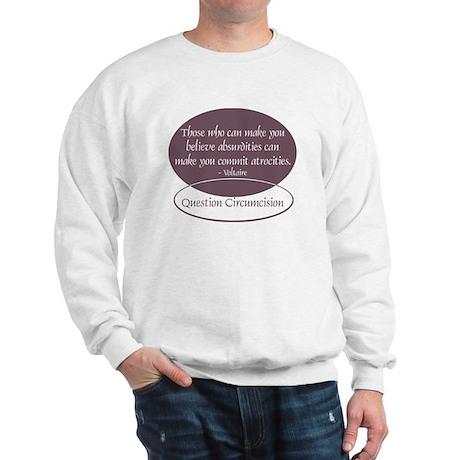 Voltaire Quote Sweatshirt