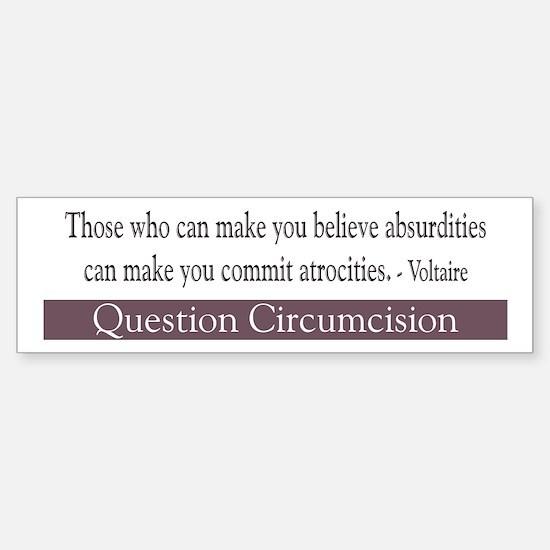Voltaire Quote Bumper Bumper Bumper Sticker
