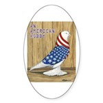 Patriotic West Oval Sticker