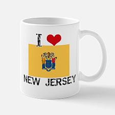 I HEART NEW JERSEY FLAG Mug