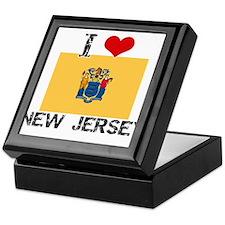 I HEART NEW JERSEY FLAG Keepsake Box