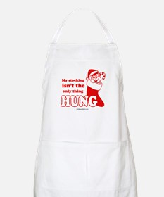 My stocking  isn't the only thing hung -  BBQ Apro