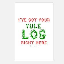 I've got your Yule Log -  Postcards (Package of 8)