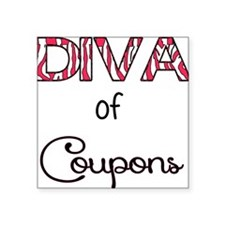 Diva of Couponing Sticker