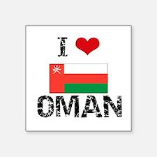 I HEART OMAN FLAG Sticker