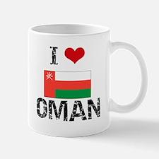 I HEART OMAN FLAG Mug