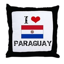 I HEART PARAGUAY FLAG Throw Pillow