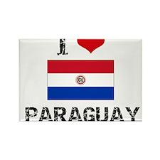 I HEART PARAGUAY FLAG Rectangle Magnet