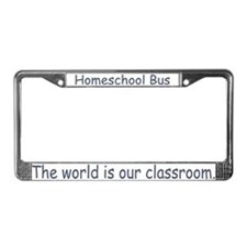 Homeschool Bus License Plate Frame
