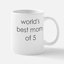 worlds best mom of 5 Mug