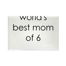 worlds best mom of 6 Rectangle Magnet
