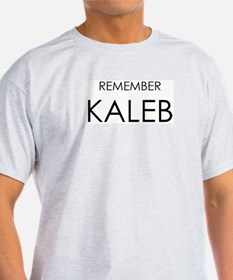 Remember Kaleb Ash Grey T-Shirt