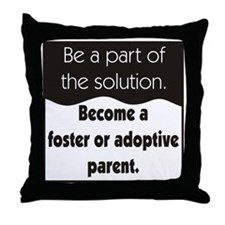 Foster Care and Adoption Throw Pillow