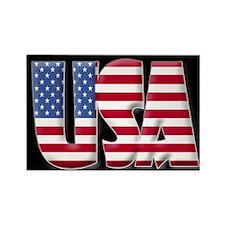 Word Art USA Rectangle Magnet