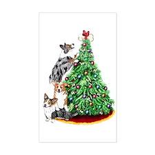 Corgi Christmas Rectangle Decal