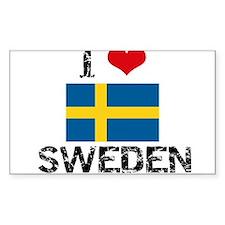 I HEART SWEDEN FLAG Decal