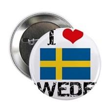 "I HEART SWEDEN FLAG 2.25"" Button"