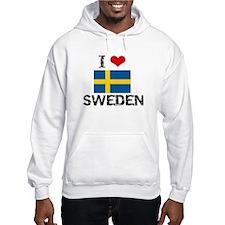 I HEART SWEDEN FLAG Hoodie