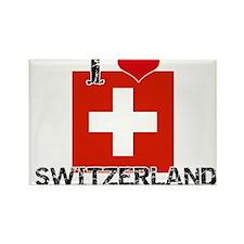 I HEART SWITZERLAND FLAG Rectangle Magnet