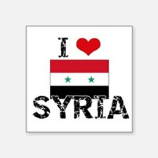 I HEART SYRIA FLAG Sticker