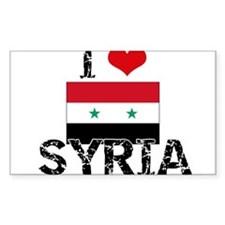 I HEART SYRIA FLAG Decal