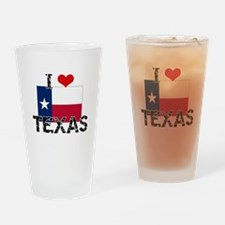 I HEART TEXAS FLAG Drinking Glass