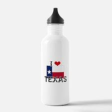 I HEART TEXAS FLAG Water Bottle