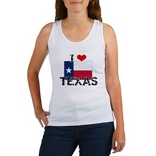 I HEART TEXAS FLAG Tank Top