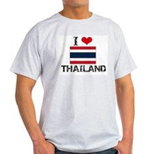 I HEART THAILAND FLAG T-Shirt