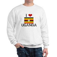I HEART UGANDA FLAG Sweatshirt