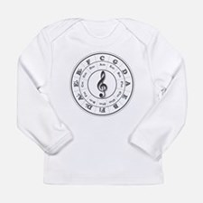 Grayscale Circle of Fifths Long Sleeve T-Shirt