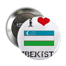 "I HEART UZBEKISTAN FLAG 2.25"" Button"