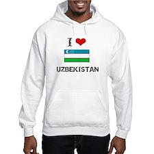 I HEART UZBEKISTAN FLAG Hoodie