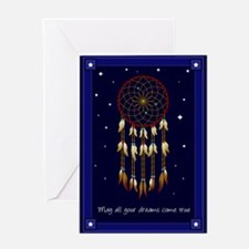 2-dreamcatcherstars Greeting Cards
