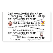 Clowns Will Eat Me Rectangle Decal