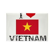 I HEART VIETNAM FLAG Rectangle Magnet