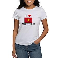 I HEART VIETNAM FLAG T-Shirt