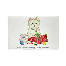 Westhighland Terrier Christmas Dog Rectangle Magne