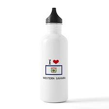 I HEART WESTERN SAHARA FLAG Water Bottle
