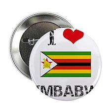 """I HEART ZIMBABWE FLAG 2.25"""" Button"""
