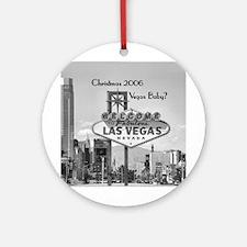 Xmas 2006 Vegas Personalized Ornament (Round)