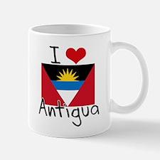 I HEART ANTIGUA FLAG Mug