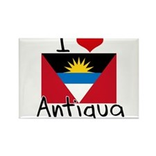 I HEART ANTIGUA FLAG Rectangle Magnet