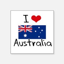 I HEART AUSTRALIA FLAG Sticker