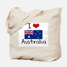 I HEART AUSTRALIA FLAG Tote Bag